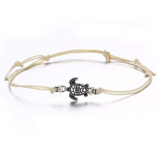 Dainty Turtle Anklet-Atolea Jewelry