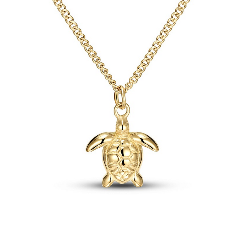 Gold Sea Turtle Necklace