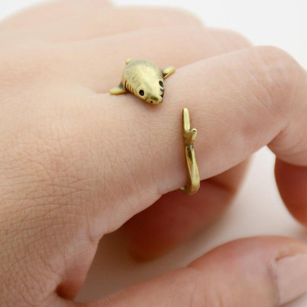 Gold Shark Ring