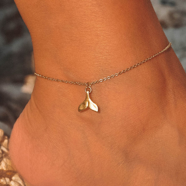 Gold Whale Anklet