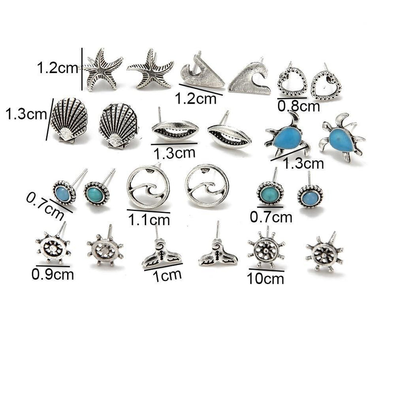 """Islandy"" Set of 12 Earrings-Atolea Jewelry"