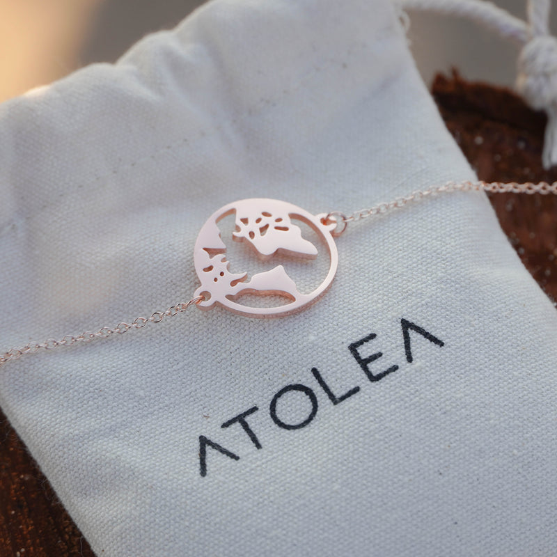 Rose Gold World Bracelet