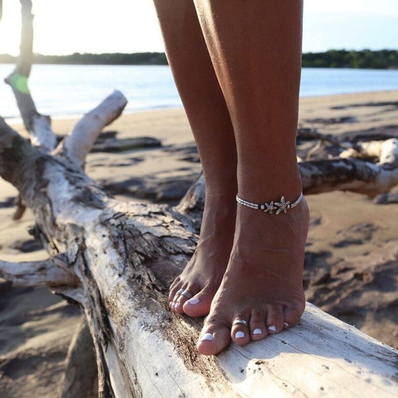 Starfish Anklet-Atolea Jewelry