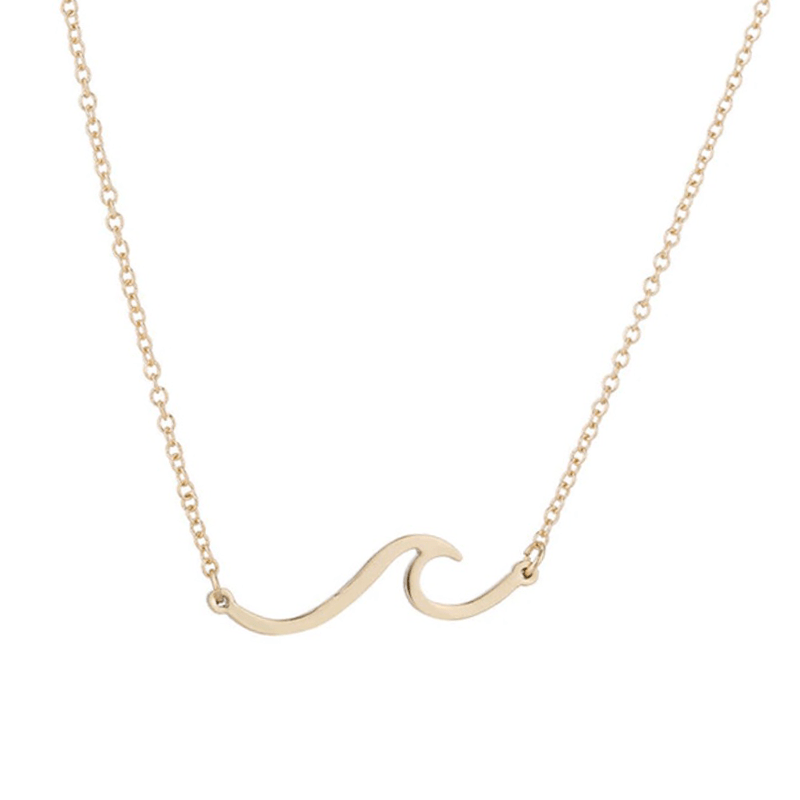 Wave Necklace-Atolea Jewelry