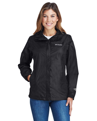 Columbia womens all weather jacket with company logo