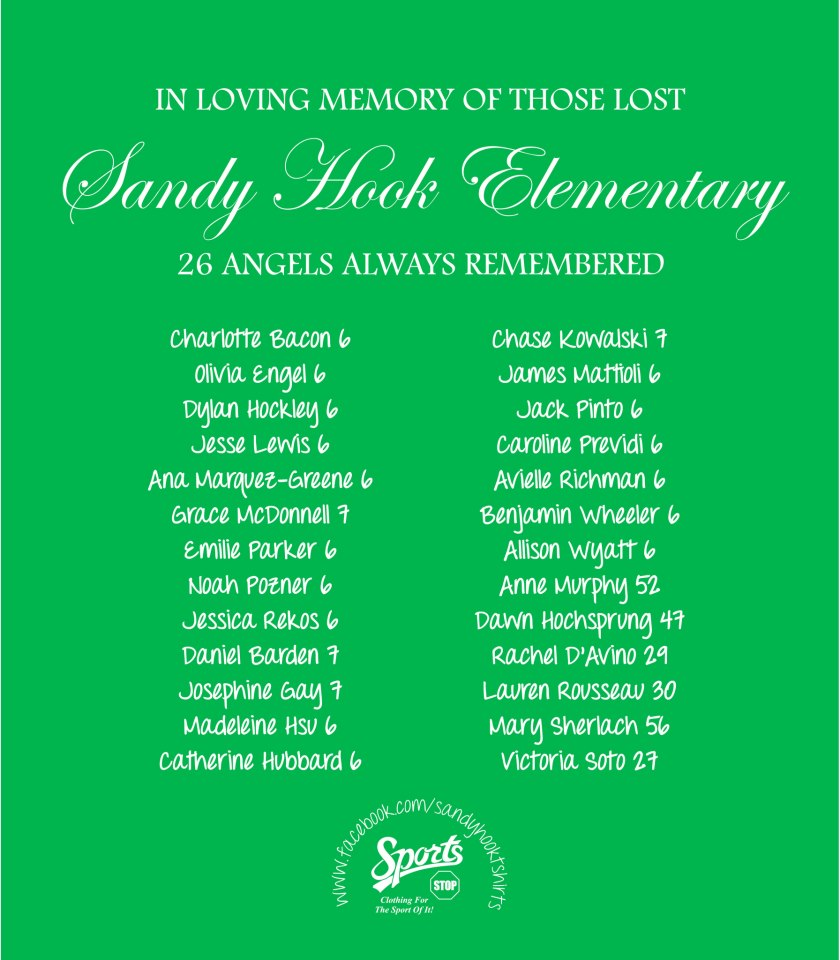 Sandy Hook T-shirt Donation Drive