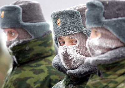 Russian Army Soldiers in Hats
