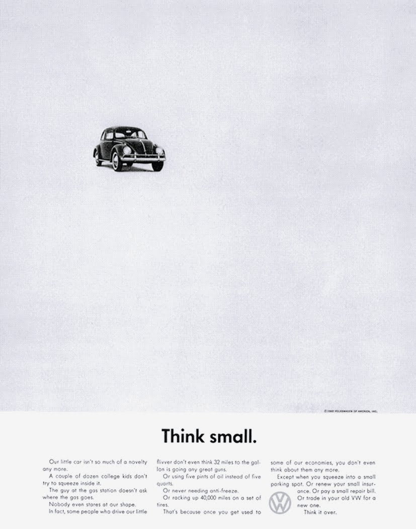 Think Small Volkswagen Ad