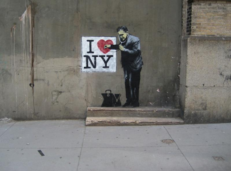 Banksy I Heart New York Art