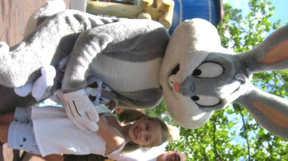 Child with Bugs Bunny