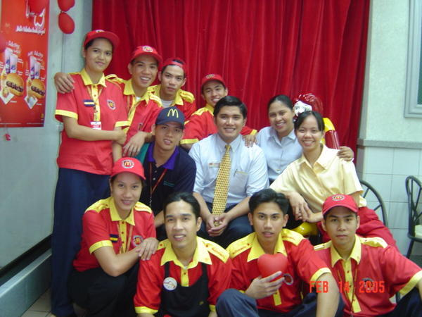 McDonald's Employees in Yellow and Red Uniforms