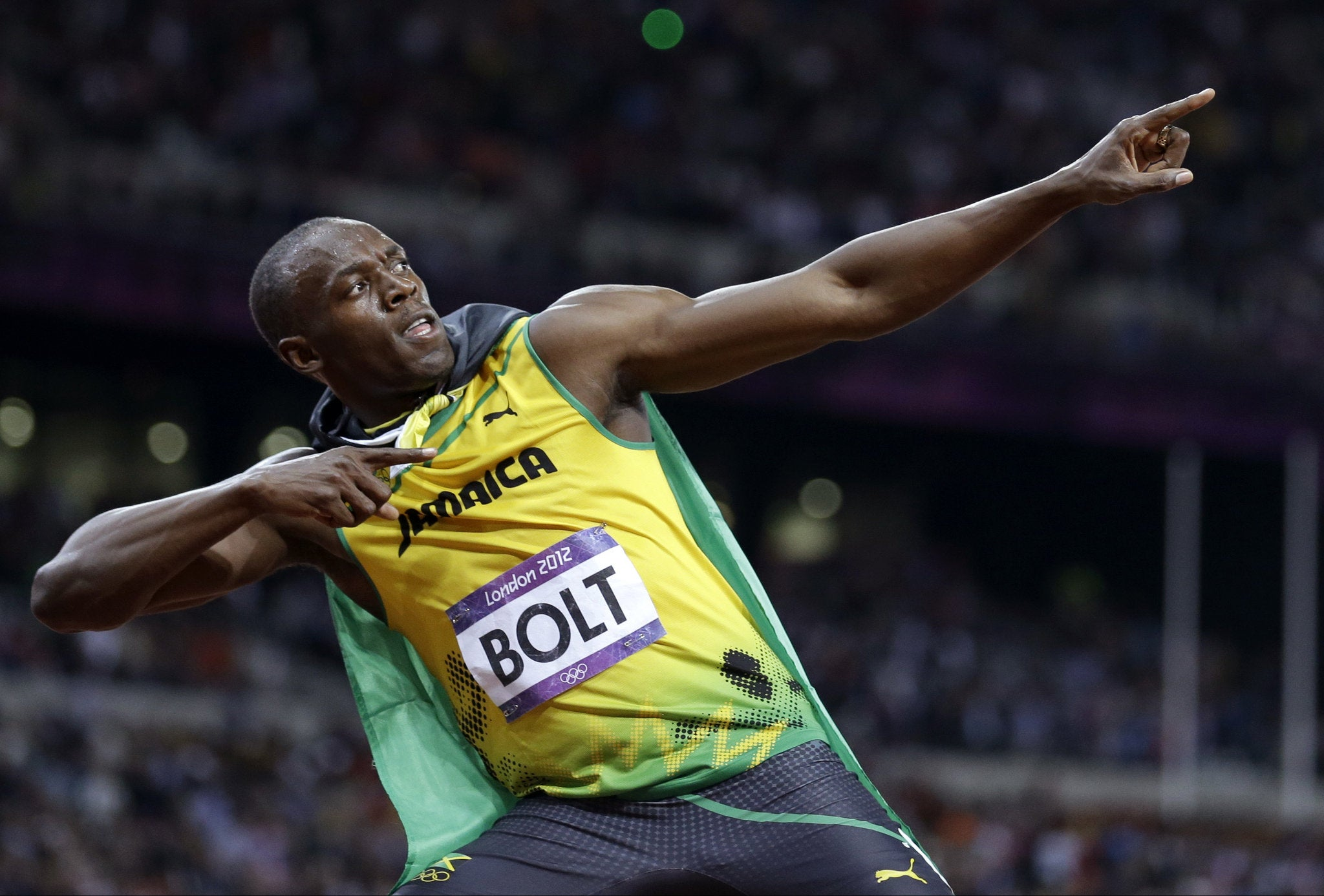 Usain Bolt at the London Olympics