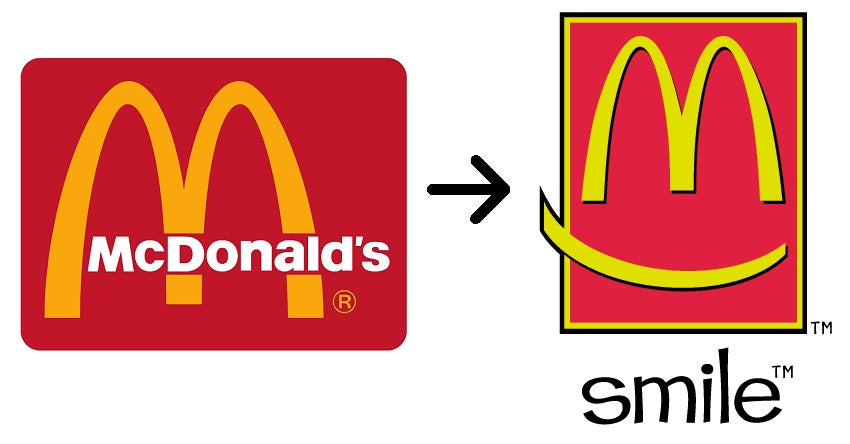 Old and New McDonald's Logos