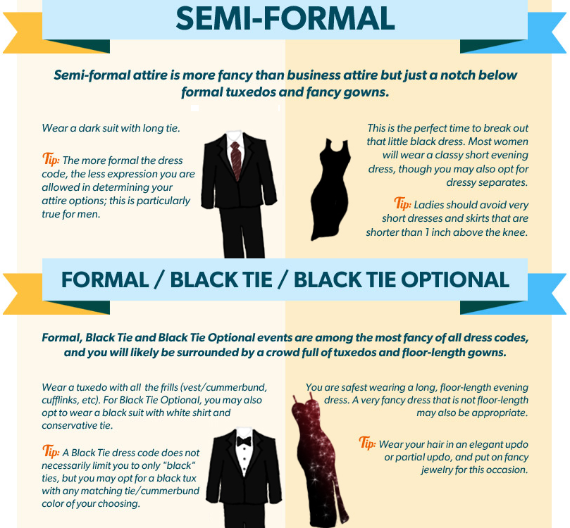 Semi Formal And Formal Attire