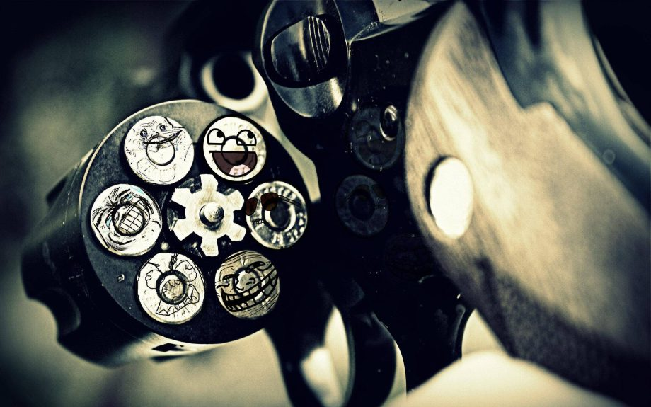 Revolver Loaded with Internet Memes