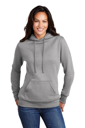 Port & Company Ladies Core Fleece Pullover Hooded Sweatshirt LPC78H Athletic Heather
