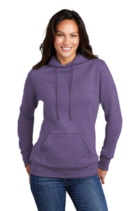 Port & Company Ladies Core Fleece Pullover Hooded Sweatshirt LPC78H Heather Purple