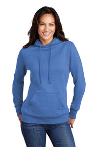 Port & Company Ladies Core Fleece Pullover Hooded Sweatshirt LPC78H Heather Royal