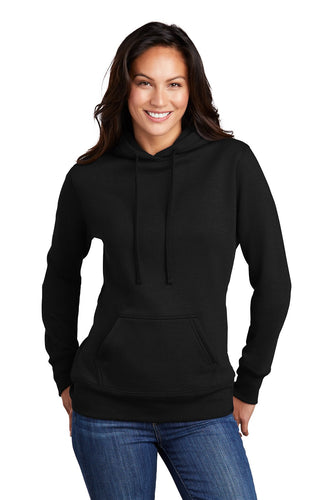 Port & Company Ladies Core Fleece Pullover Hooded Sweatshirt LPC78H Jet Black