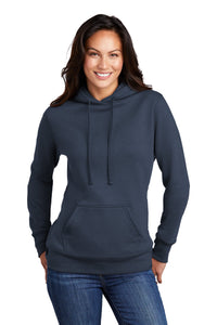 Port & Company Ladies Core Fleece Pullover Hooded Sweatshirt LPC78H Navy