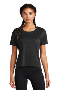 Sport-Tek Ladies PosiCharge Tri-Blend Wicking Draft Crop Tee LST411 Black
