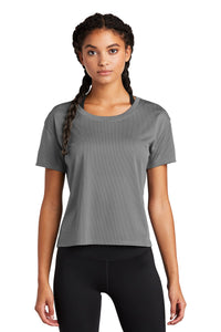 Sport-Tek Ladies PosiCharge Tri-Blend Wicking Draft Crop Tee LST411 Dark Grey
