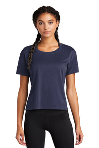 Sport-Tek Ladies PosiCharge Tri-Blend Wicking Draft Crop Tee LST411 True Navy