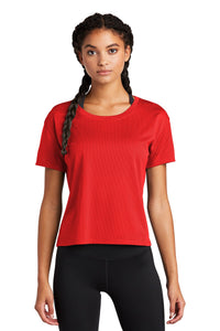 Sport-Tek Ladies PosiCharge Tri-Blend Wicking Draft Crop Tee LST411 True Red