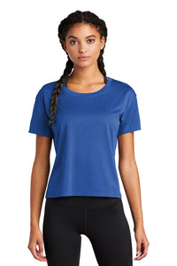 Sport-Tek Ladies PosiCharge Tri-Blend Wicking Draft Crop Tee LST411 True Royal