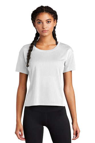 Sport-Tek Ladies PosiCharge Tri-Blend Wicking Draft Crop Tee LST411 White
