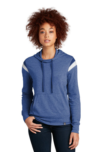 New Era Ladies Heritage Blend Varsity Hoodie LNEA108 Royal Heather/ Royal/ White