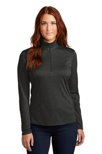 Sport-Tek Ladies Endeavor 1/4-Zip Pullover LST469 Black Heather