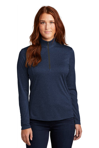 Sport-Tek Ladies Endeavor 1/4-Zip Pullover LST469 Dark Royal Heather