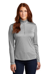 Sport-Tek Ladies Endeavor 1/4-Zip Pullover LST469 Light Grey Heather