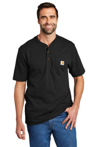Carhartt Short Sleeve Henley T-Shirt CTK84 Black
