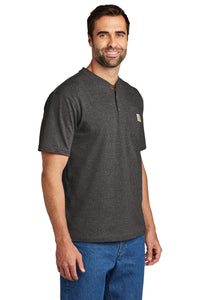 Carhartt Short Sleeve Henley T-Shirt CTK84 Carbon Heather