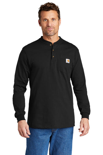 Carhartt Long Sleeve Henley T-Shirt CTK128 Black