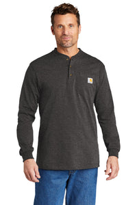 Carhartt Long Sleeve Henley T-Shirt CTK128 Carbon Heather
