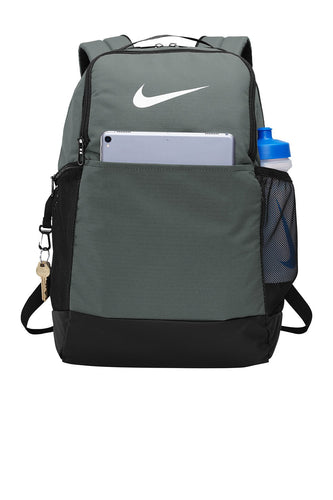 nike brasilia backpack ba5954 flint grey