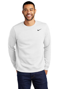 nike white cj1614 custom logo sweatshirts embroidered