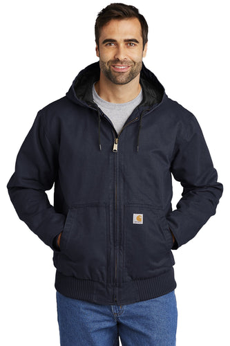 Carhartt Tall Washed Duck Active Jac CTT104050 Navy
