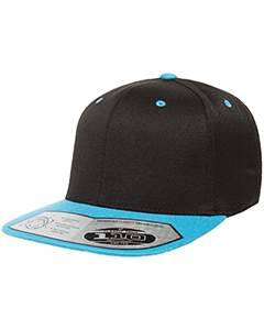 flexfit_110ft_black/ teal_company_logo_headwear