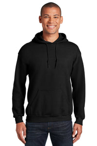 Gildan Black 18500 sweatshirts with logos