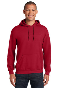 Gildan Cherry Red 18500 business sweatshirts with logo