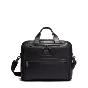 Tumi Organizer Brief Leather 1173201041 Black Leather