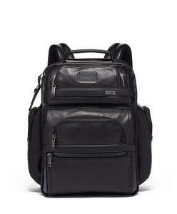 TUMI Brief Pack Leather 1173431041 Black Leather