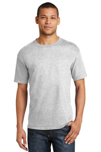 hanes beefy cotton t shirt 5180 ash
