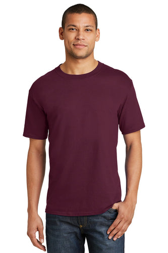 hanes beefy cotton t shirt 5180 maroon