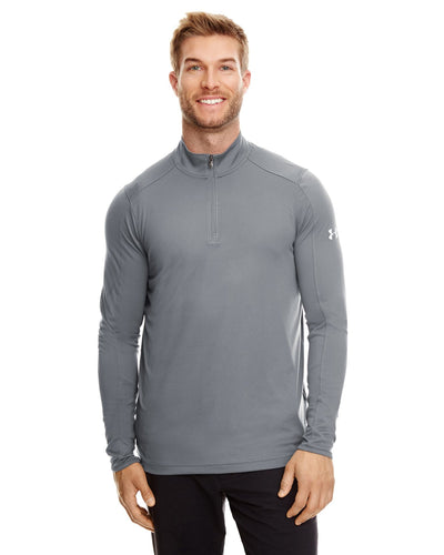 Under Armour Graphite/ White 1300131 custom dri fit sweatshirts