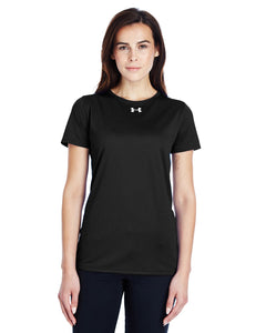 Under Armour Ladies Locker T-Shirt 2.0 Black/ M Silver 1305510